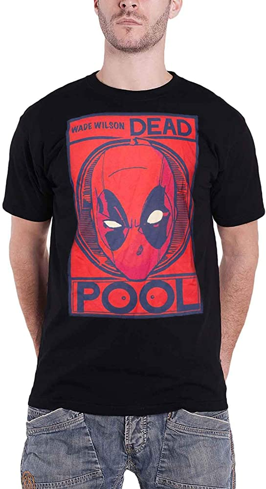 Deadpool Camiseta para Hombre Wade Wilson Poster Marvel Cotton ...