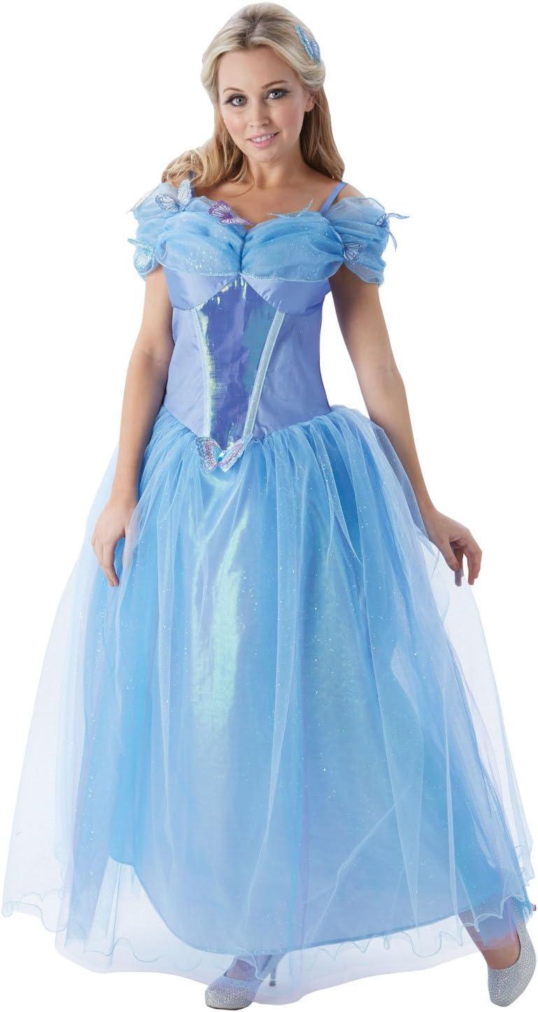 Princesas Disney - Disfraz de Cenicienta para mujer, talla S ...