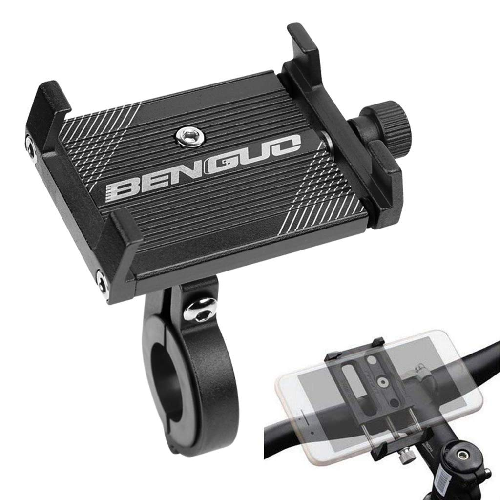 SUNMENCO 自転車 携帯電話 ホルダー オートバイ 携帯電話 マウント バイク アルミニウム 合金 滑り止め スタンドマウントブラケット   B07HCN8J19