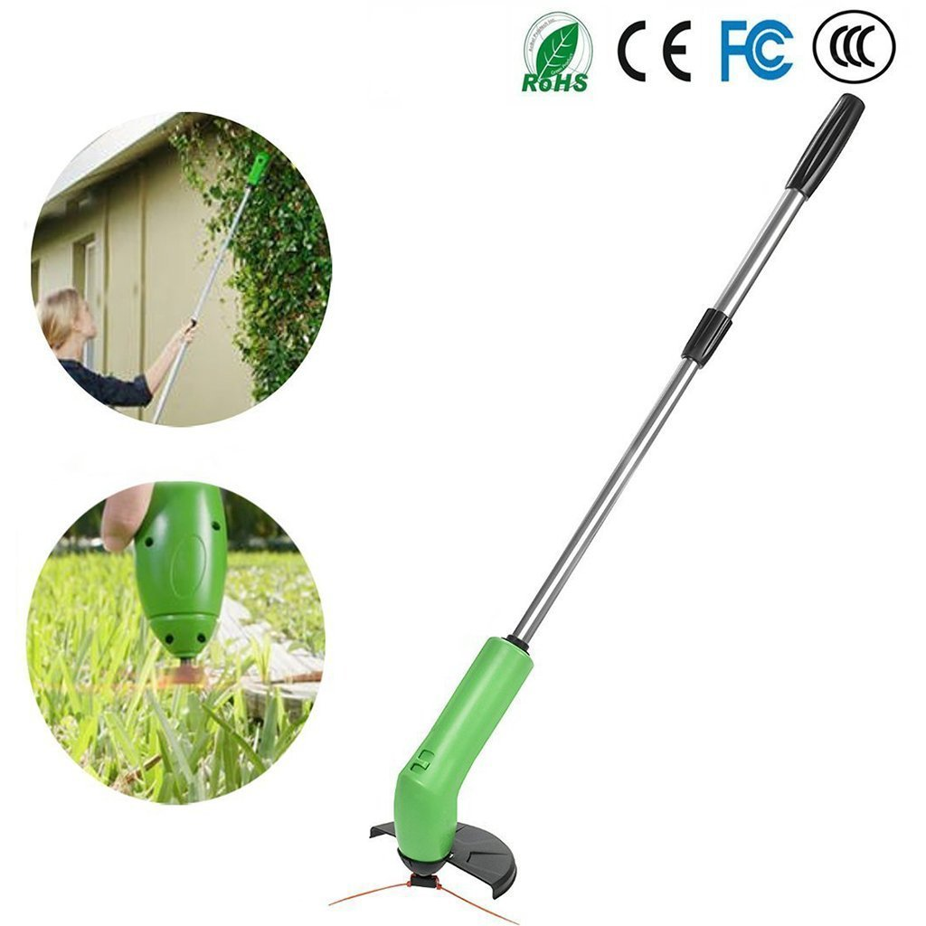 Mustbe strong Zip Trim Cordless Trimmer - Handhold Extensible Lightweight Garden Grass Trimmer - Powerfully Clips Weeds Using Standard Zip Ties