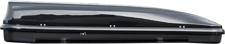 VDP Dachbox schwarz JUFL460 460 Liter abschlie/ßbar Alu-Relingtr/äger Tiger XL aufliegende Reling im Set kompatibel mit Ford Mondeo Kombi ab 11