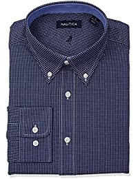 Men's Classic Fit Performance Check Button Down Collar...