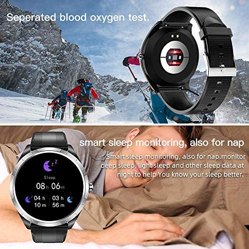 SPOREX EG4 Health Focused Smart Watch, Heart Rate & Blood Pressure Monitor, Fitness Tracker, Blood Oxygen Meter; Smartwatch for Android phones and iPhone Compatible; HD Touch Screen, Waterproof; Sport 6