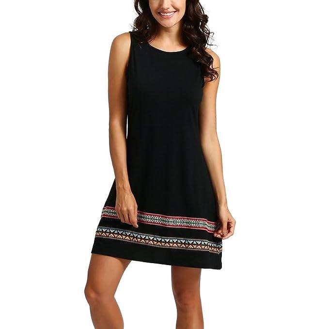 f4d3c256e8 NEEDRA Dresses Women Summer O Neck Knee Long Sleeve and Sleeveless A Line  Party Dress Sundress: Amazon.co.uk: Clothing