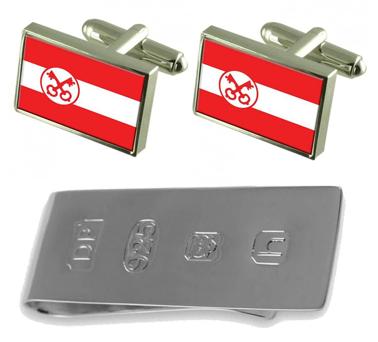 ライデンCity Netherlands Flag Cufflinks & James Bondお金クリップ B077WZLPBY