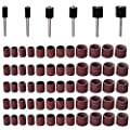 eBoot 66 Pieces Drum Sanders Set 60 Pieces Sanding Bands and 6 Pieces Drum Mandrels in 1/ 2, 3/ 8 and 1/ 4 Inch from eBoot