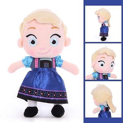 Salemor Frozen Plush Doll Super Cute Anna Elsa Olaf Kristoff Sven Salamander Plush Doll Home Decor Collectible Plush Toy(30cm Elsa-Blue): Arts, Crafts & Sewing