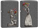 Personalized Message Engraved Customized Gift For Him For Her Edgy Part2 Zippo Lighter Indoor Outdoor Windproof Lighter (Dead Skulls Set)