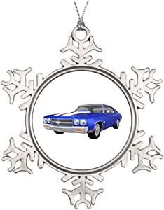 Trend Tim Chevelle Ss Sports Car Personalised Christmas Tree Decoration