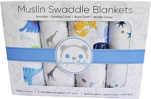 Muselina bebé 100% algodón Swddling blanket biológico certificado ...