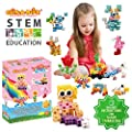Click-A-Brick Rainbowland 112pc Building Blocks Set | Best STEM Toys for Boys & Girls Age 4 5 6 7 Year Old | Kids 3D Creative Puzzle Fun | Top Educational Learning Gift For Children Ages 4 - 12