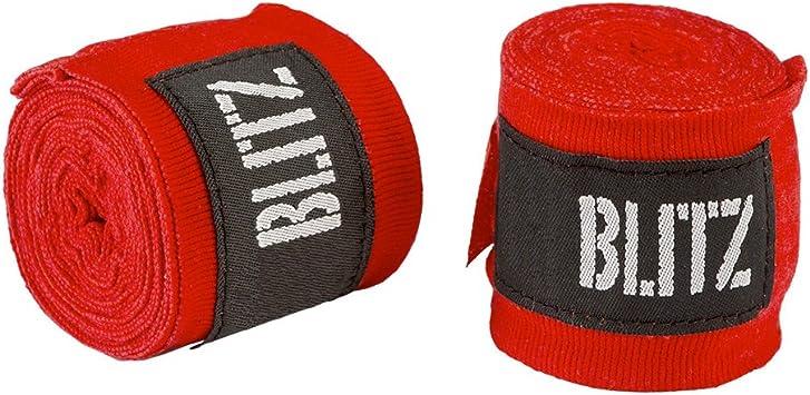 Blitz Vendas para las manos, tamaños:304,8 ó 457,2 cm, para boxeo, kick boxing, muay thai, etc., rojo: Amazon.es: Deportes y aire libre