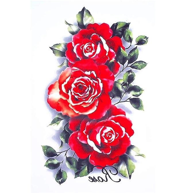 Just Fox – Tatuaje temporal, diseño de rosas: Amazon.es: Belleza