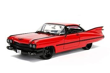 Amazon Com 1959 Cadillac Coupe Deville Red 1 24 Diecast Model Car