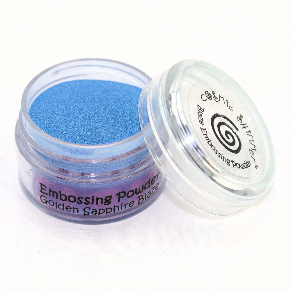 Cosmic Shimmer Blaze Empossing Powder, Golden Sapphire Creative Expressions CSEPGOLSAP