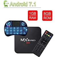 VGROUND Android 7.1 TV Box with 3D 4K H.265 Decoding 2.4GHz S905W Quad Core 64 Bit 1/8G, Wireless Keyboard (Dispatched from CA)