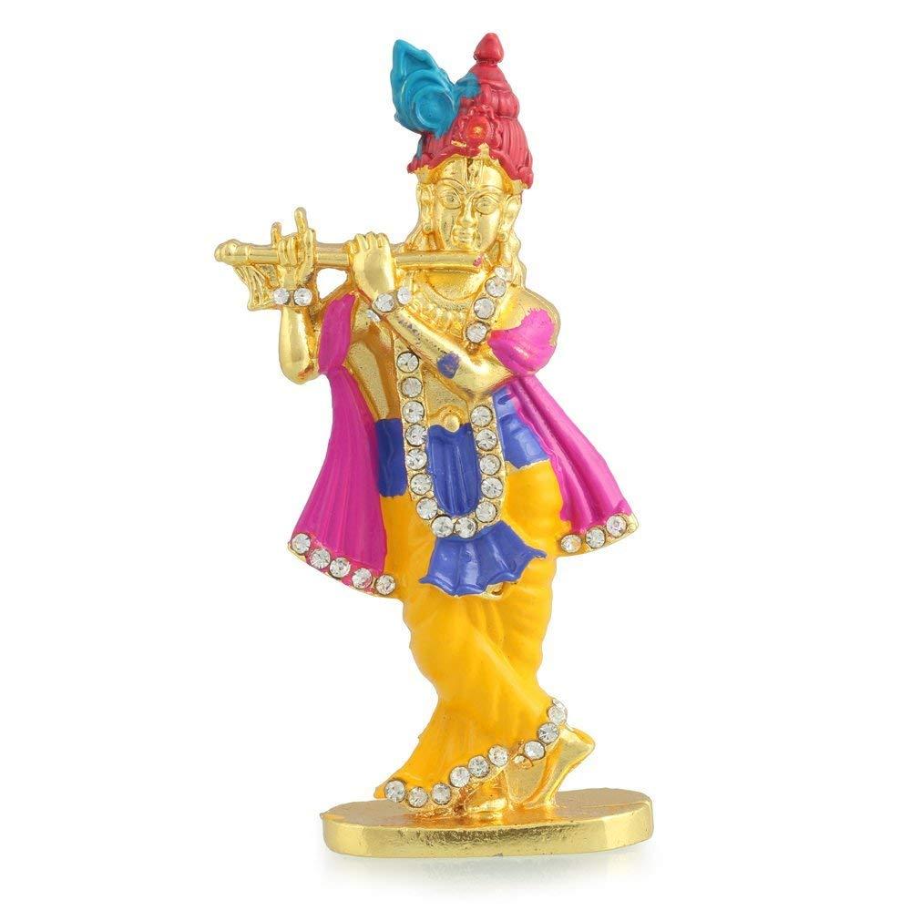 Divine Gifts Lord Krishna Statue In Brass