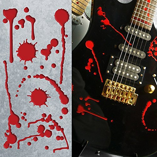 Inlay Sticker Decals for Guitar Bass - Splattered Blood ()