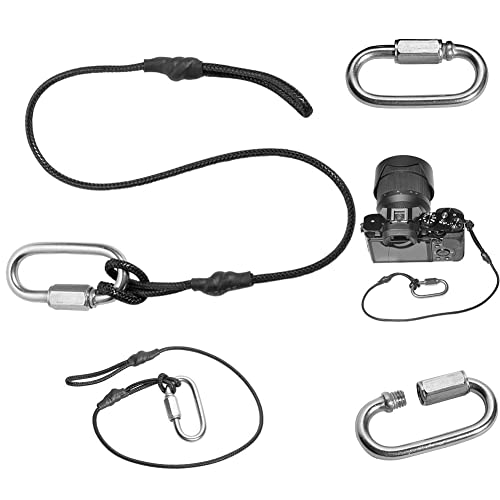 Fomito Stainless Steel Buckle Camera Rope Camera Tether Safety Rope for Canon,Nikon,Sony Cameras