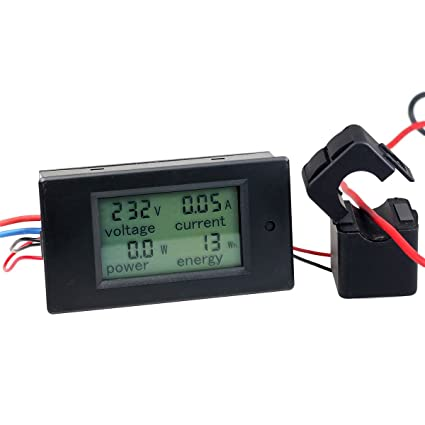 AC 100A Digital Power KWh Watt Meter Volt Energy Multimeter Amp Voltmeter  Ammeter with Current Transformer CT,Open-close Current Transformer