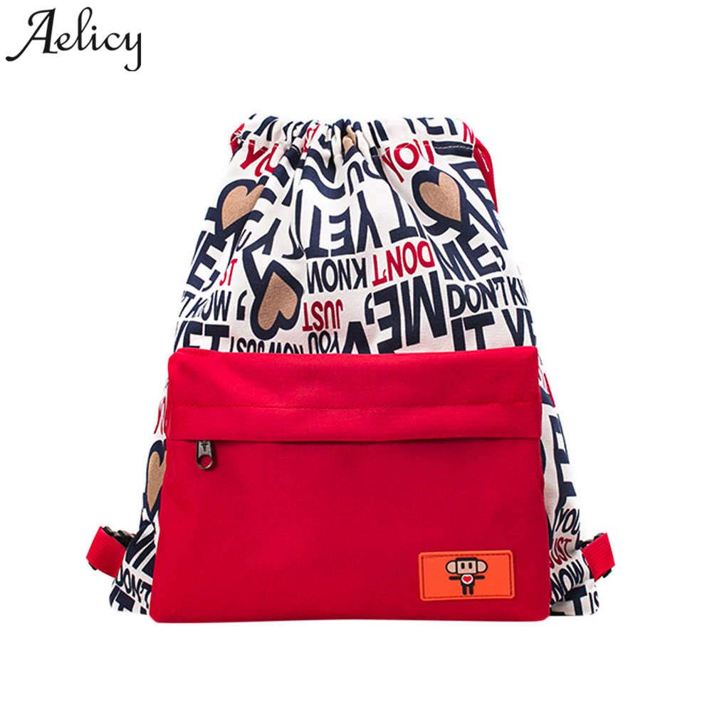 Amazon.com: UATECH Aelicy Canvas Women Backpack Drawstring School Bags for Girls Female Backpacks for Teenage Girls Mochilas Escolares Schoolbag: Home & ...