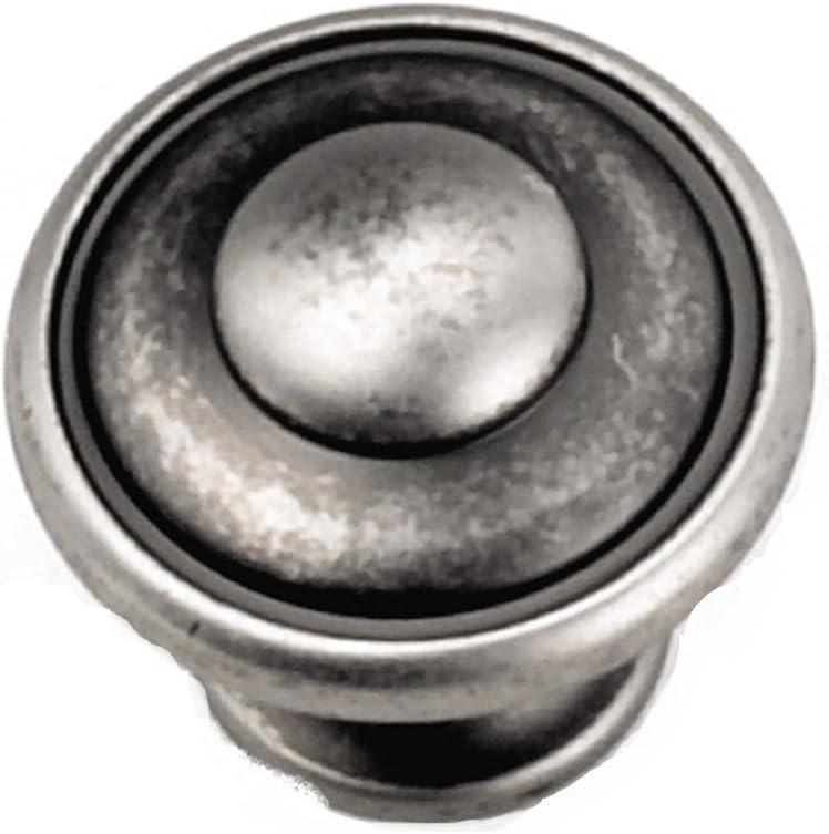Laurey 24106 Cabinet Hardware 1-1/8-Inch Button obere Knob, Antique Pewter