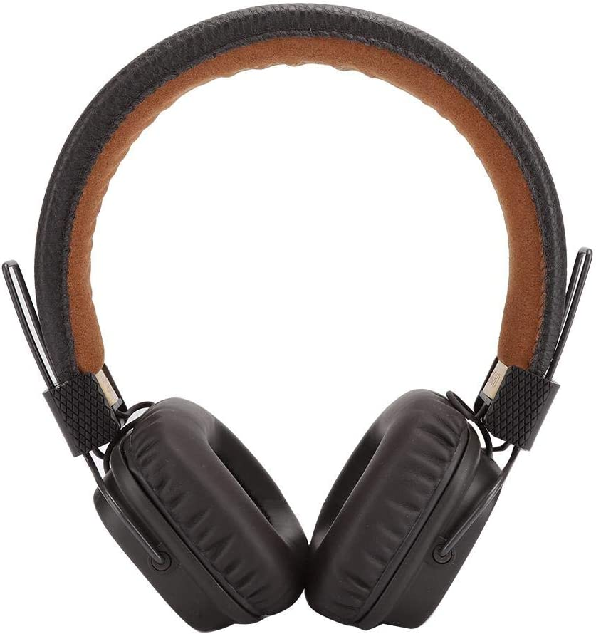 Ciglow Bluetooth Headphones on Ear, Soft Ear Pad Wired Folding Wireless Headset with 3.5mm Interface, for Travel Work TV PC Cellphone,10Hz-20kHz(Brown)