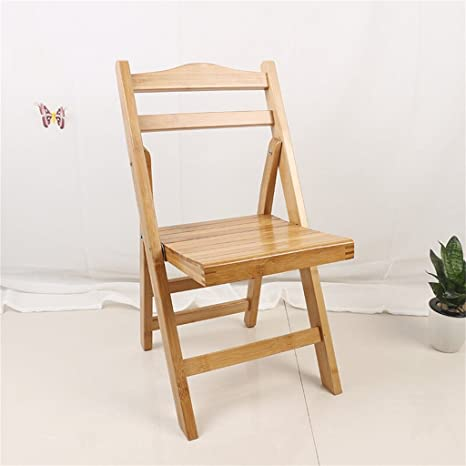 Sillas de Acampada Taburete Plegable de bambú portátil de ...