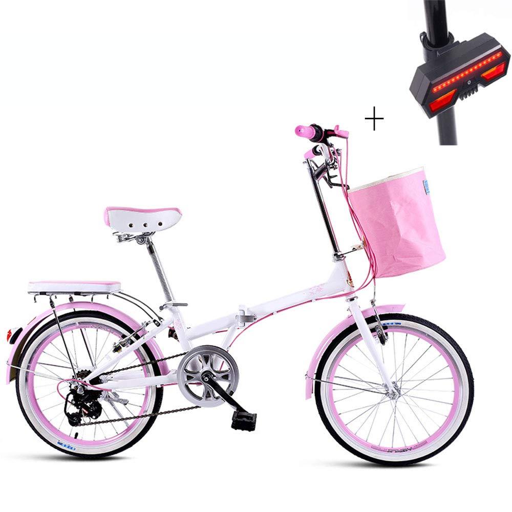 自転車 折りたたみ式自転車 20インチ 高炭素鋼 7速シフトハンドルバー 滑り止めタイヤ ギフト 自転車ウィンカー B07H34HKFF
