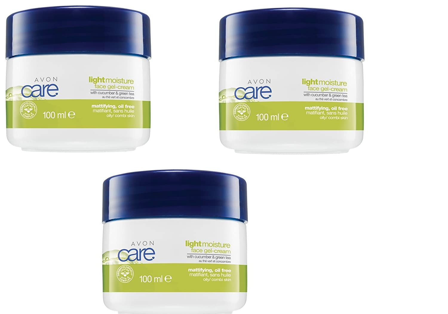 3 X Avon Care Light Moisture Face Cream 100ml Each Amazoncouk