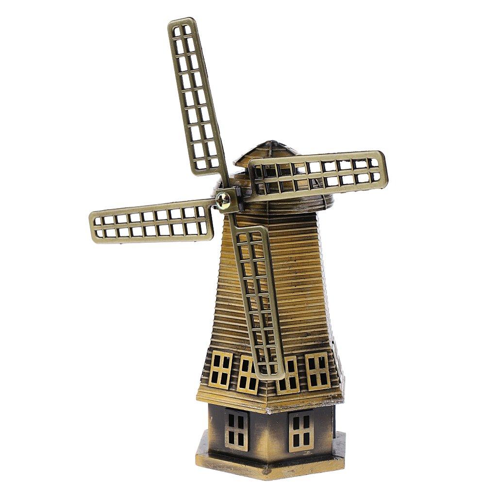 MonkeyJack Bronzer Holland Windmill Statue Sculpture Figurine - Home Table Shelf Decor