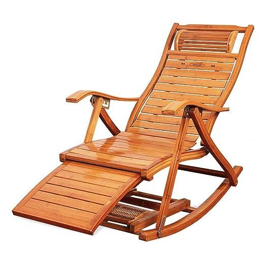 ZQ-Silla Mecedora Sillón de jardín balcón o Patio cómodo ...