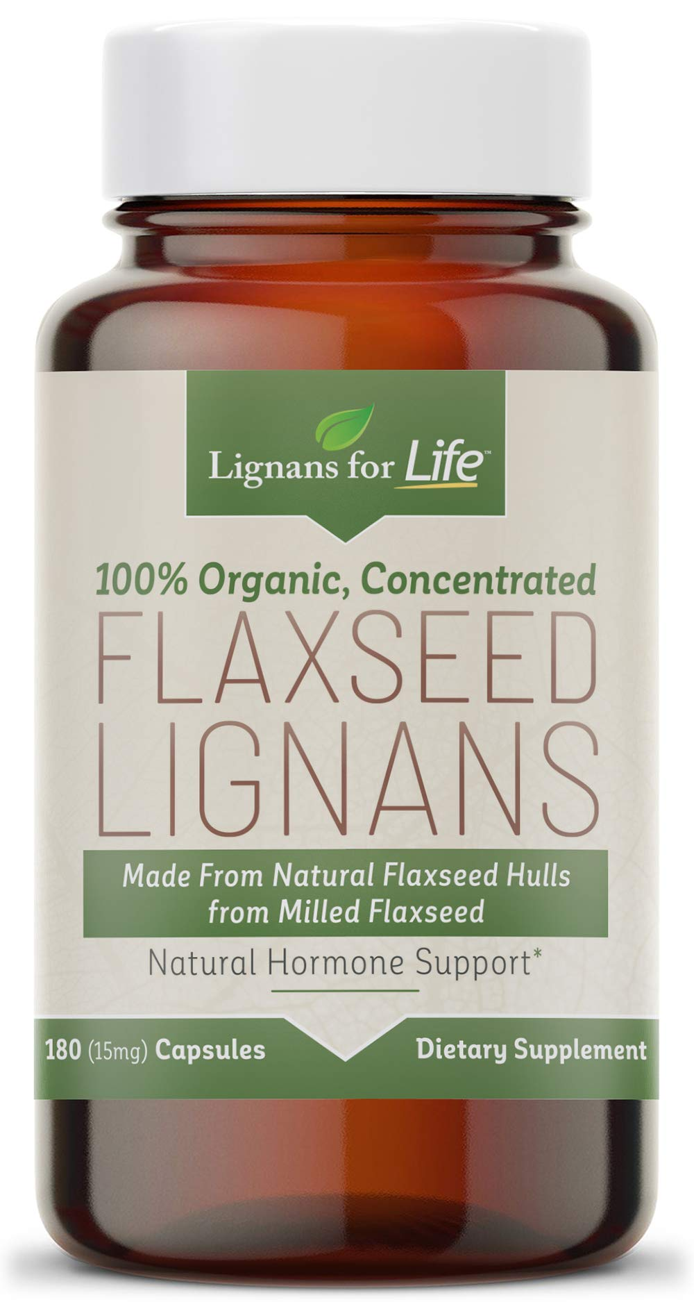 Organic Flaxseed LIgnans 30 mg Flax Hulls by Lignans For Life (Image #1)