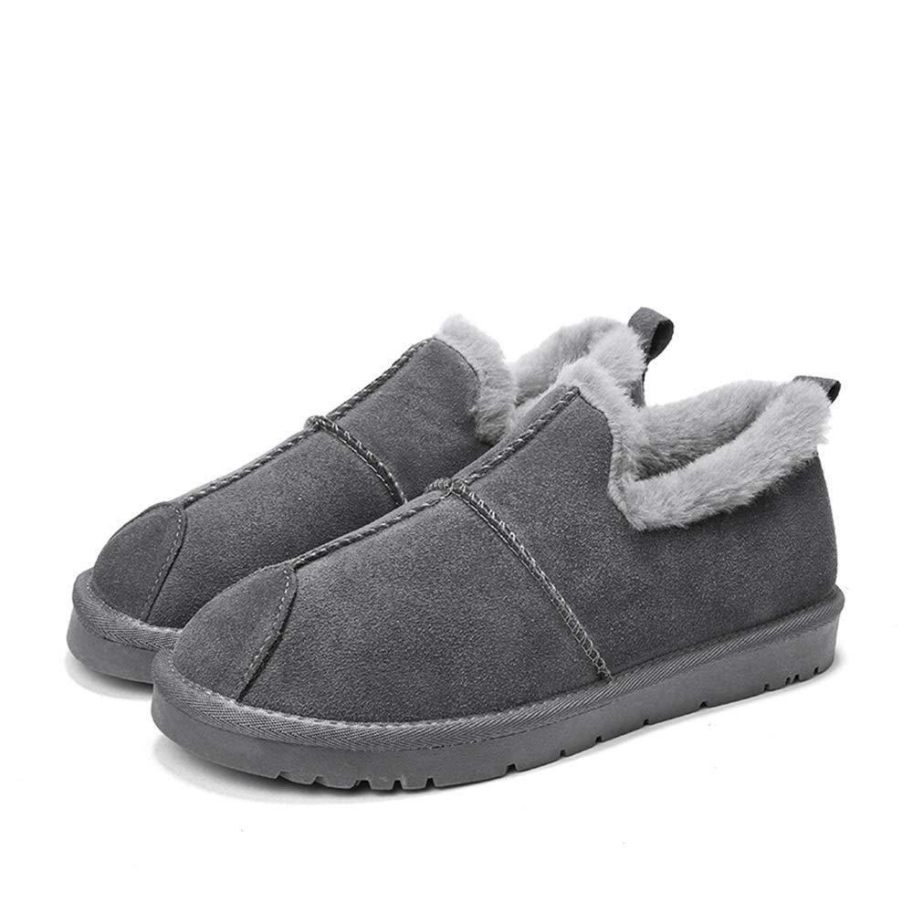 SHENNANJI Herren Home Schneeschuhe Home Herren Schuhe Fashion Herren Modische Schneeschuhe Casual Low Top Britischen Stil Winter Faux Fleece Inside Home Schuhe ( Farbe   Grau , Größe   41 EU ) c2cf8f