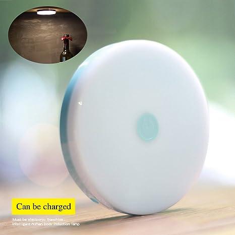 youruichuang LED lámpara de iluminación nocturna recargable Sensor de movimiento luz nocturna para armario escaleras dormitorio