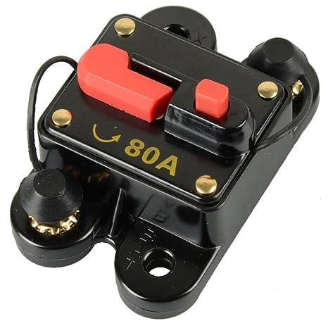 RKURCK Interruptor Cortacircuitos 200A portafusibles Trolling Motor Auto Auto Marine Barco Bicicleta Est/éreo Audio en l/ínea Fusible Inversor Inversores DC 12-24V 200 Amps