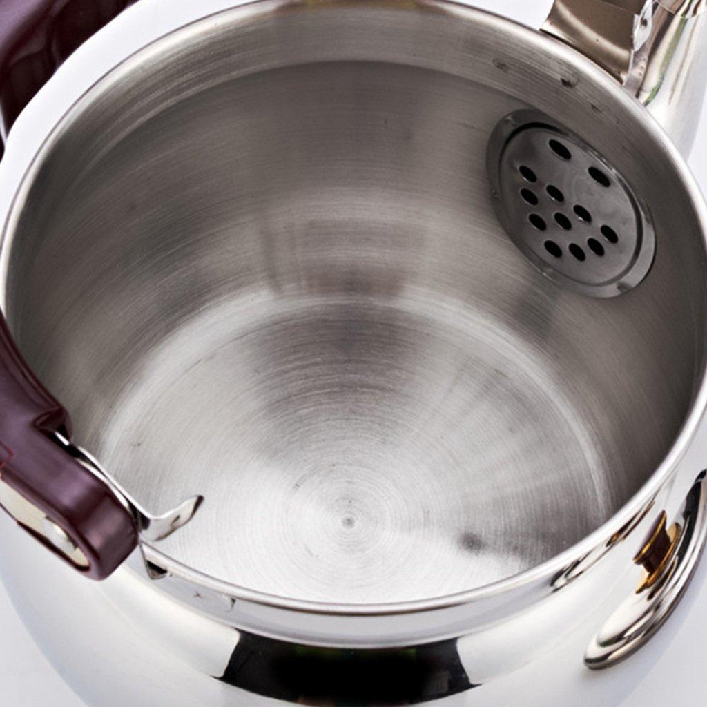 MagiDeal 2pcs Stainless Steel Whistling Kettle Teapot Kitchen Restaurant Supply 1L