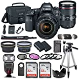 Canon EOS 6D MARK II DSLR Camera Bundle with CanonEF 24-105mm f/4L IS II USM Lens + 2pc SanDisk 32GB Memory Cards + Premium Accessory Bundle Kit (19 Items)