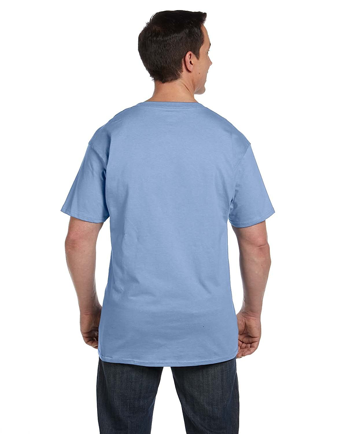 Hanes 6.1 oz Beefy-T with Pocket 5190P Light Blue XL