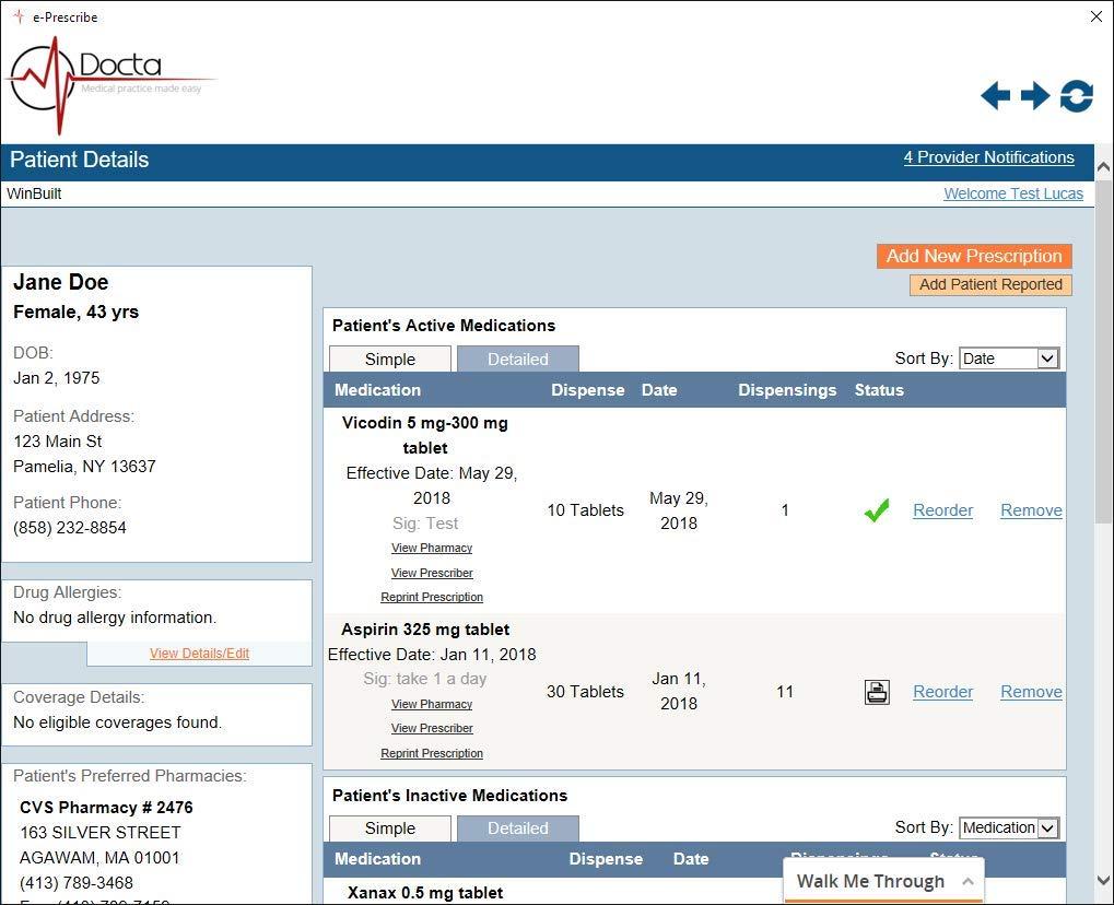 Docta Medical Software. EMR EHR Practice management software. Schedulling, billing, all in one.