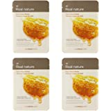 The Face Shop Real Nature Face Mask, Honey, 20g (Pack of 4)