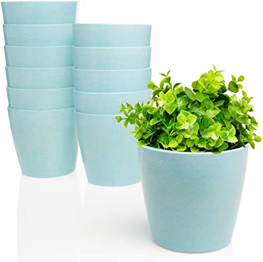 Oasis - Macetas para macetas con depósito de agua, biodegradables ...