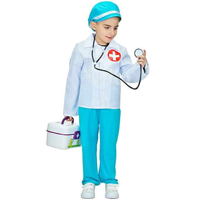 flatwhite Kid's Doctor Role Play Costume (L (10-12Y))