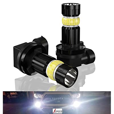 XSPEED H11 LED Fog Light Bulbs 3000lm Extremely Bright High Power flexible LED 360° Beam Angle H8 H16 Fog Light Bulb Replacement for Car Truck Cool Xenon White 6500k: Automotive