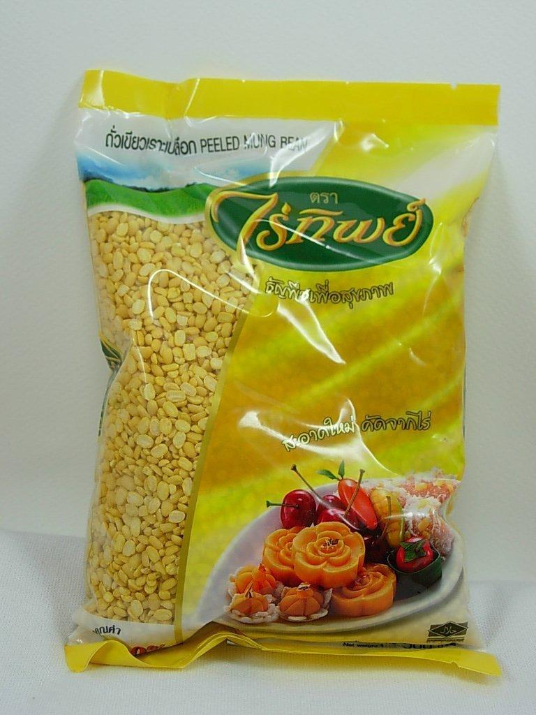 Raitip- Peeled mung bean(500g.), 100% Natural High Quality, Healthy Diet Food