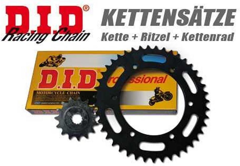 Kettensatz//Kettenkit D.I.D PRO-STREET X-Ring f/ür 690 Duke 2008 bis 2012