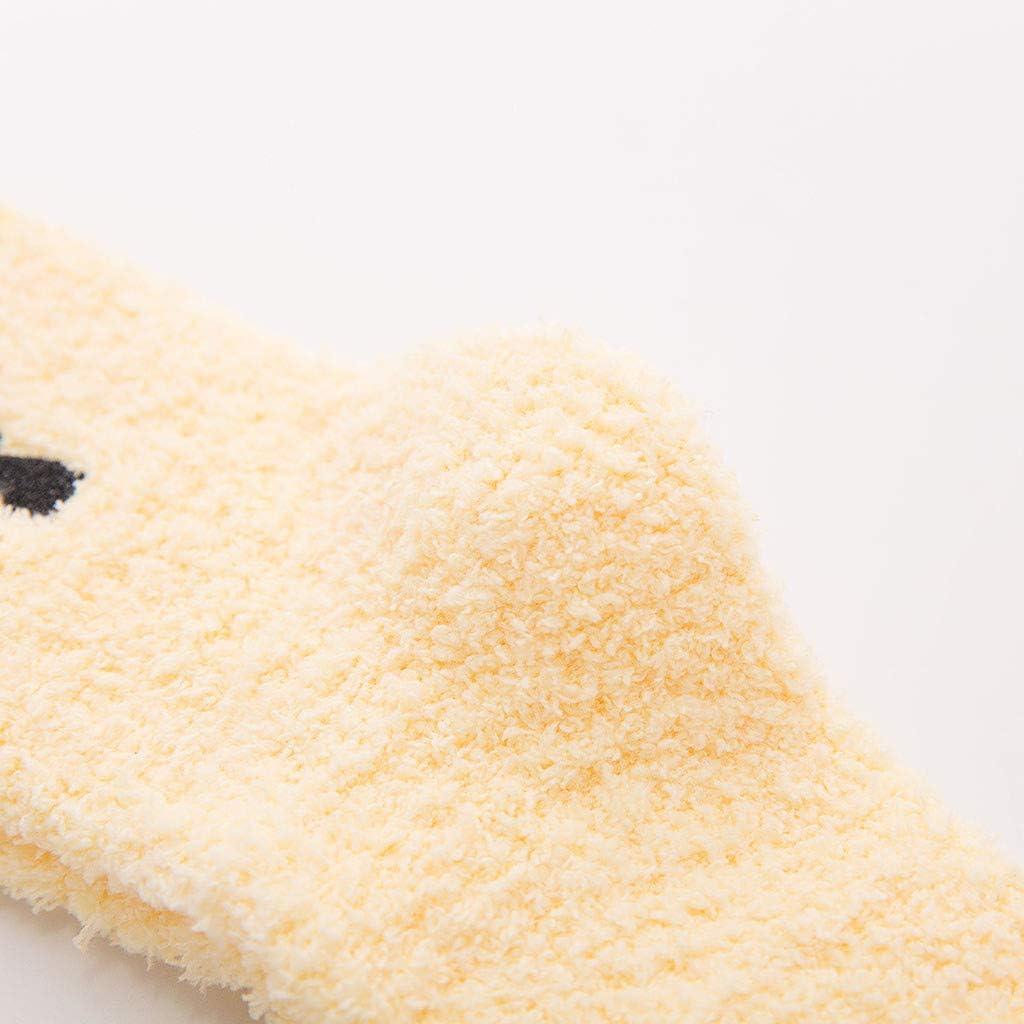 Somerl socken damen str/ümpfe Mode nach Hause weichen Bettboden Stickerei Katze schlafen mittlere Str/ümpfe Socken Yellow,Free
