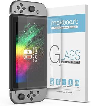 Protector de Pantalla de Vidrio Templado para Nintendo Switch, Protector de Pantalla de Vidrio Templado Maxboost para Nintendo Switch, Vidrio Templado Mejorado Ultra Fino HD (2 Unidades): Amazon.es: Electrónica