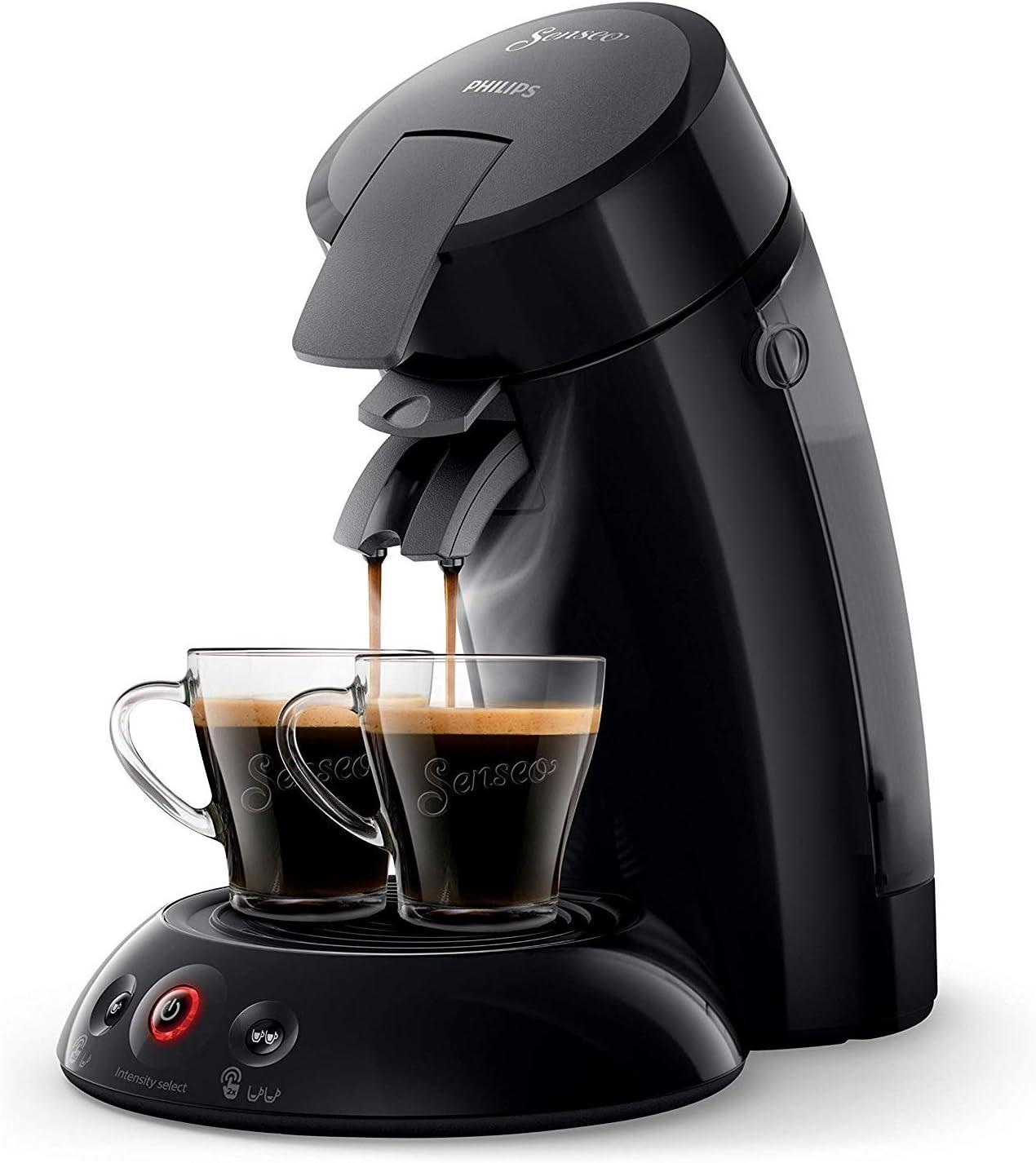 Philips SENSEO Original HD6554/61 - Cafetera monodosis con tecnología Coffee Boost y Crema Plus, selección de intensidad, color negro