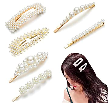 6 PCs Silver Clear Rhinestone Bobby Pins Wedding Bridal Pageant Trendy Hair Pins